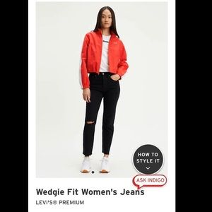 Levi's Wedgie Jeans in Black Desert